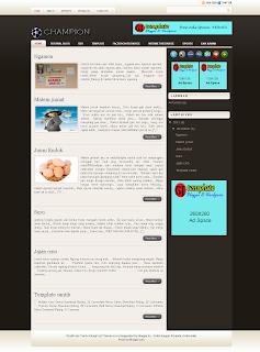 champion blogger template