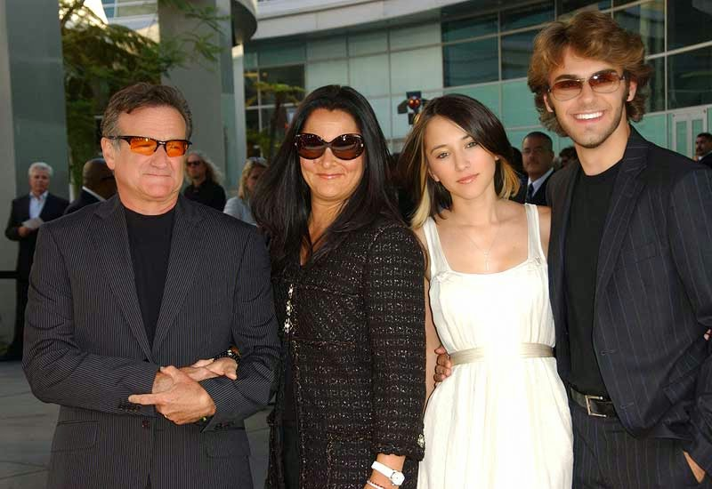 robin williams death, family pictures