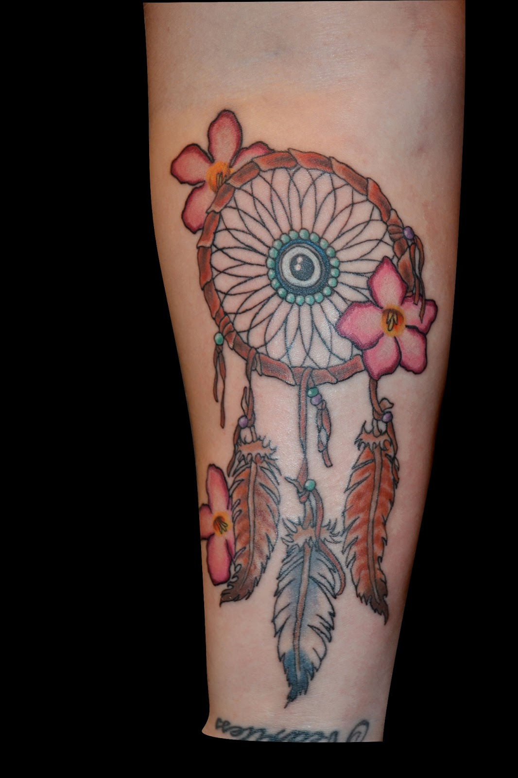 Dreamcatcher Legs Tattoos