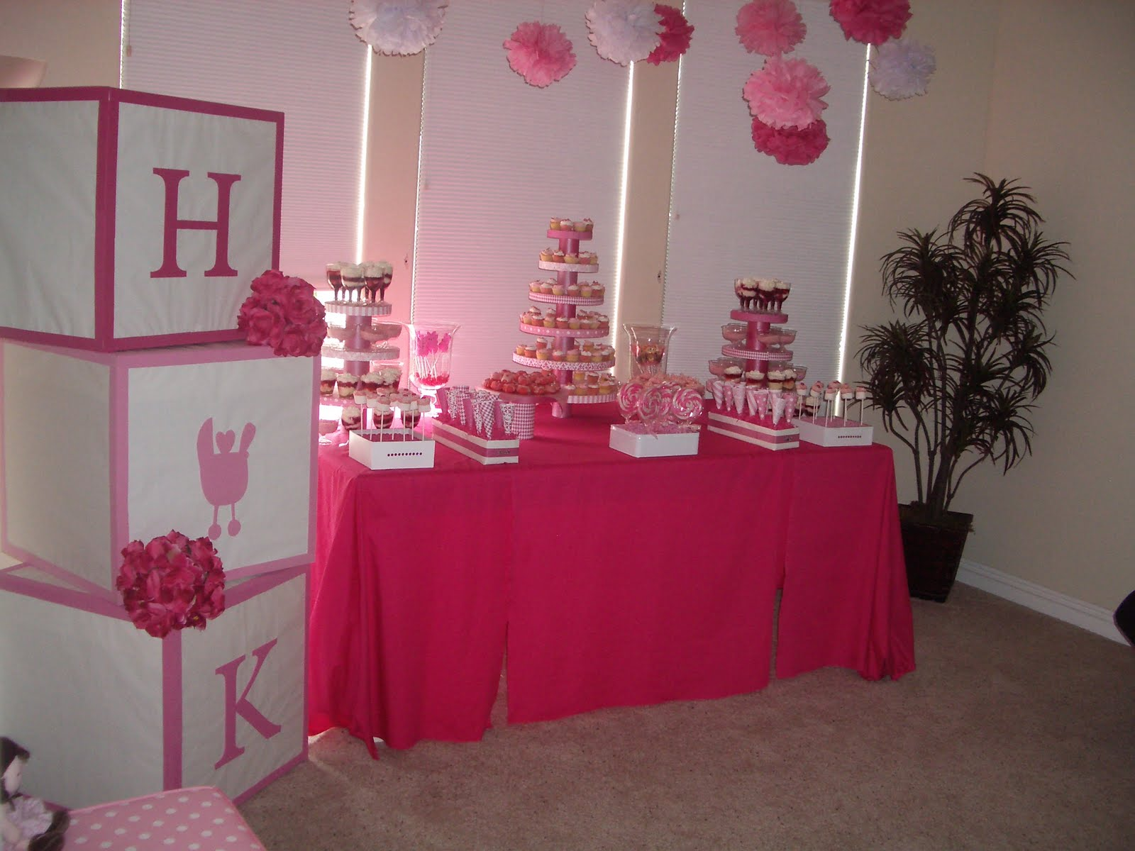 Girl baby shower ideas party favors ideas for Baby shower decoration pictures ideas