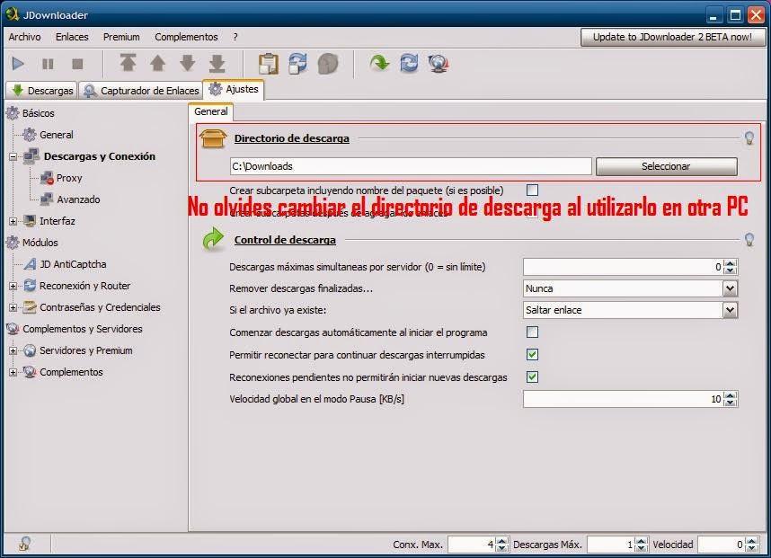 base de datos jdownloader.