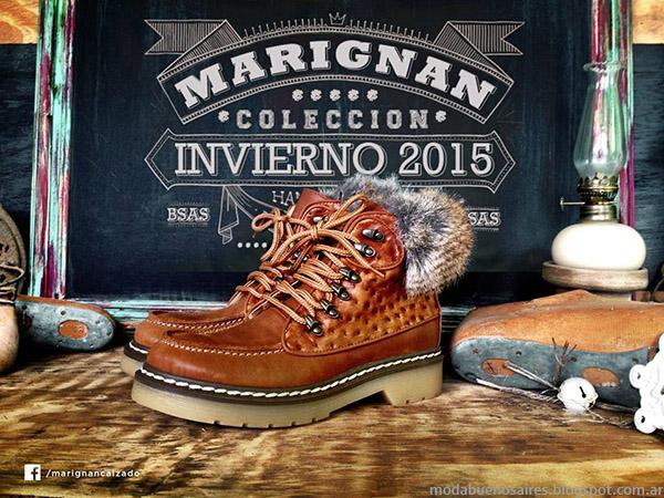 Zapatos invierno 2015. Moda calzado otoñ invierno 2015 Marignan.