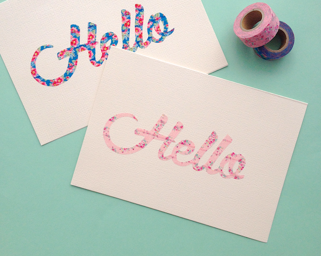 What To Do With Washi Tape omiyage blogs: diy washi tape script cards