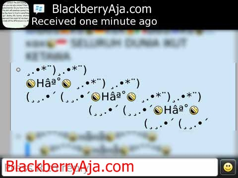 Download Simbol Autotext BBM Blackberry Lucu Unik :