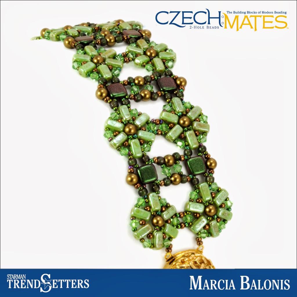 CzechMates Brick/Tile bracelet by Starman TrendSetter Marcia Balonis