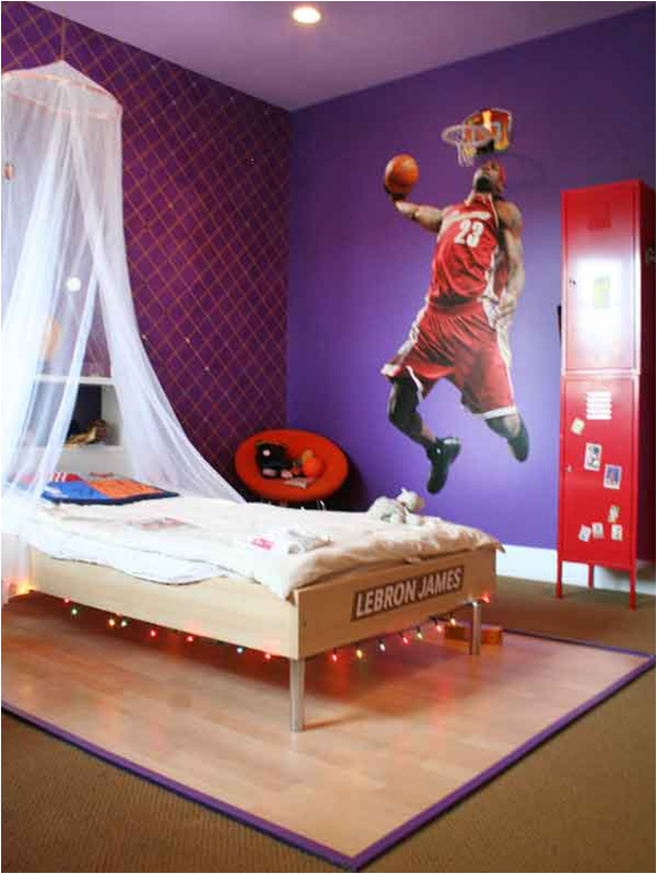 Teen boys sports theme bedrooms room design ideas - Boys room decor ...