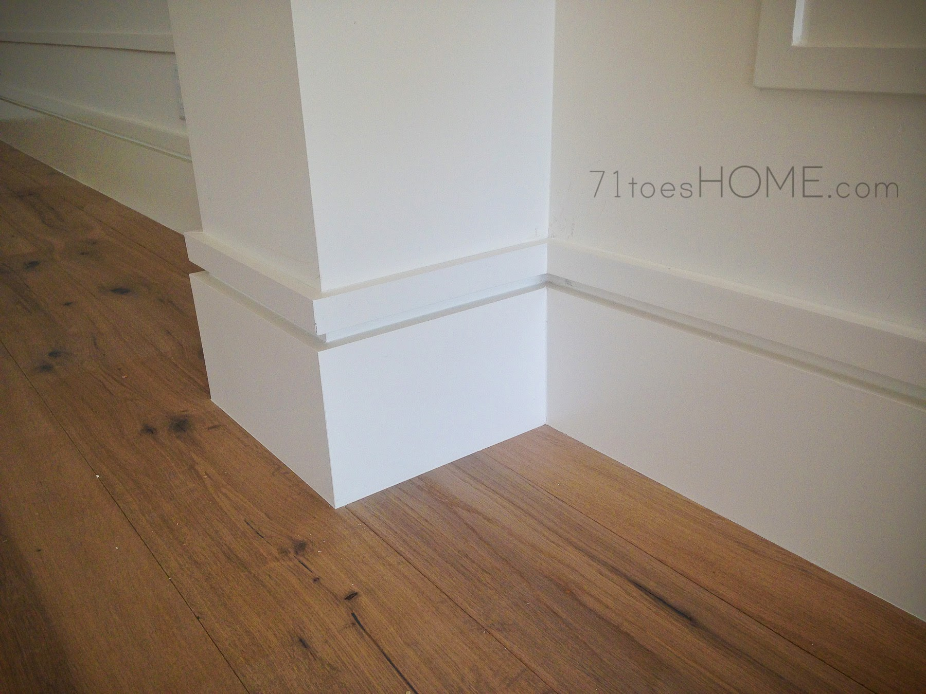 71toes h o m e february progress for Contemporary trim moulding