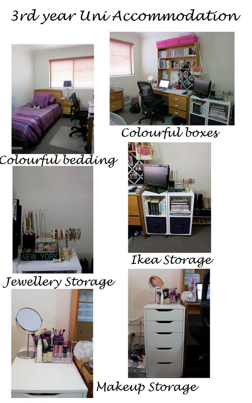 Third year university accommodation decor