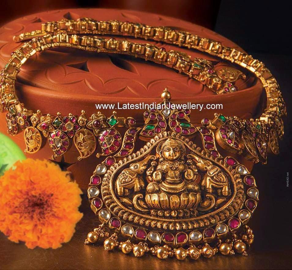 Mango Haram with Lakshmi Pendant