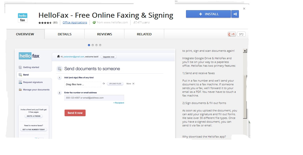 how to send and receive fax online free