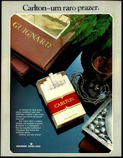 propaganda cigarros Carlton - 1976; propaganda anos 70; história decada de 70; reclame anos 70; propaganda cigarros anos 70; Brazil in the 70s; Oswaldo Hernandez;