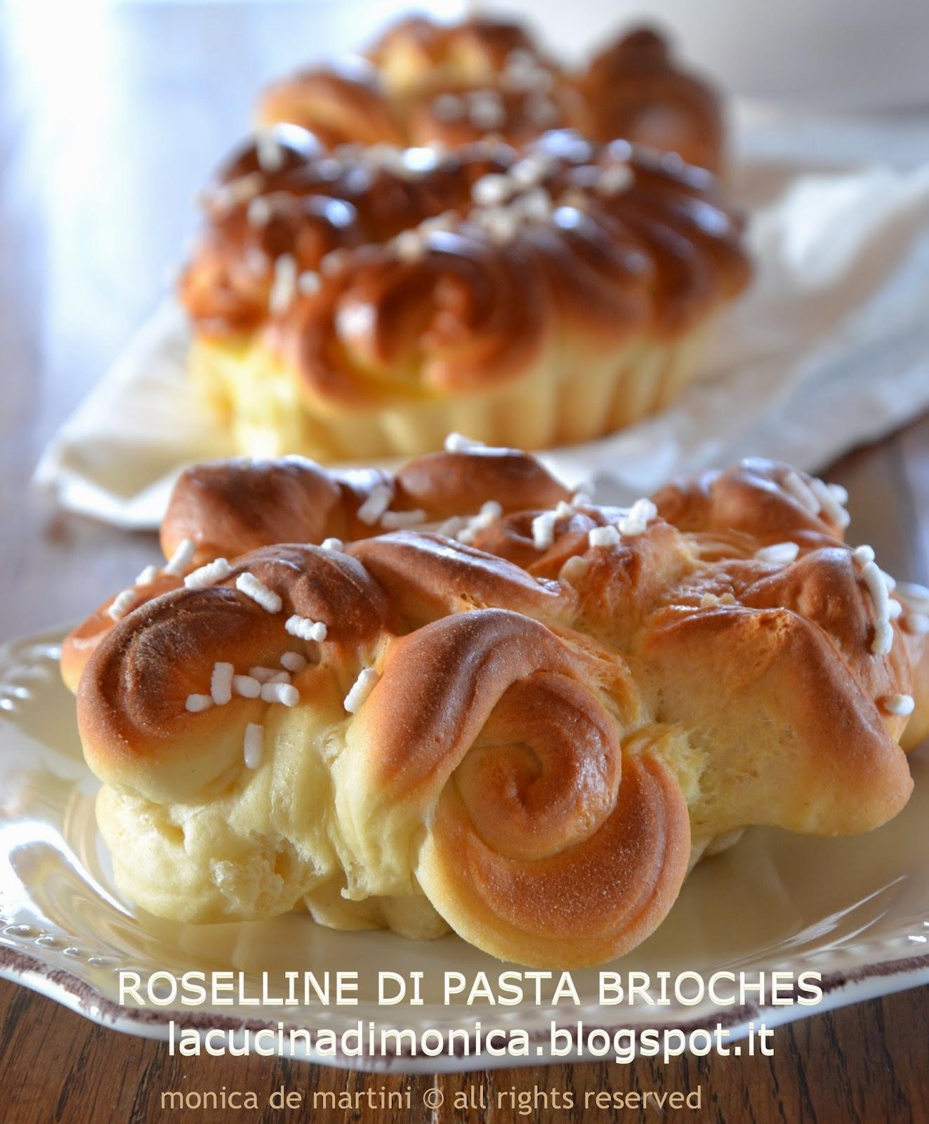roselline di pasta brioches