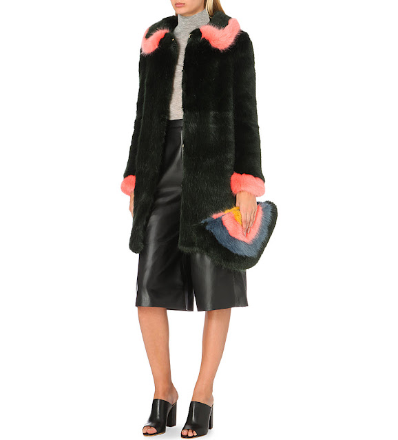 shrimps green pink coat,