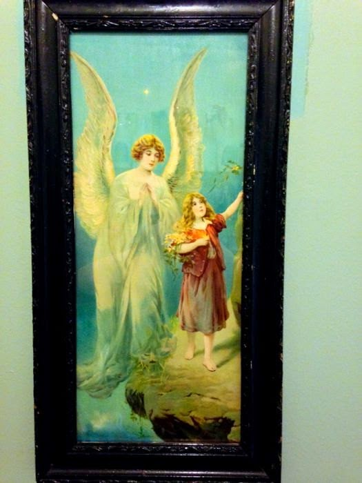 Victorian print of angel and child at The Pickled Hutch