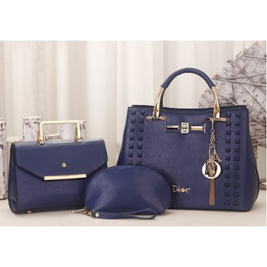 DIOR DESIGNER BAG (3 IN 1 SET) - BLUE