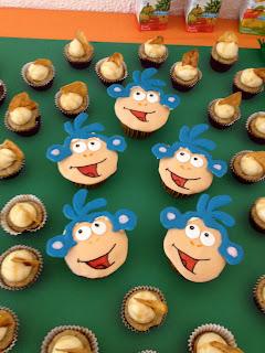 boots cupcakes, dora the explorer cupcakes