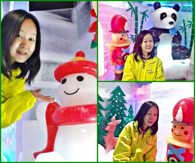 K-smiling with Mr Snowman, Mr Soldier and Mr Panda~^^  | www.meheartseoul.blogspot.com