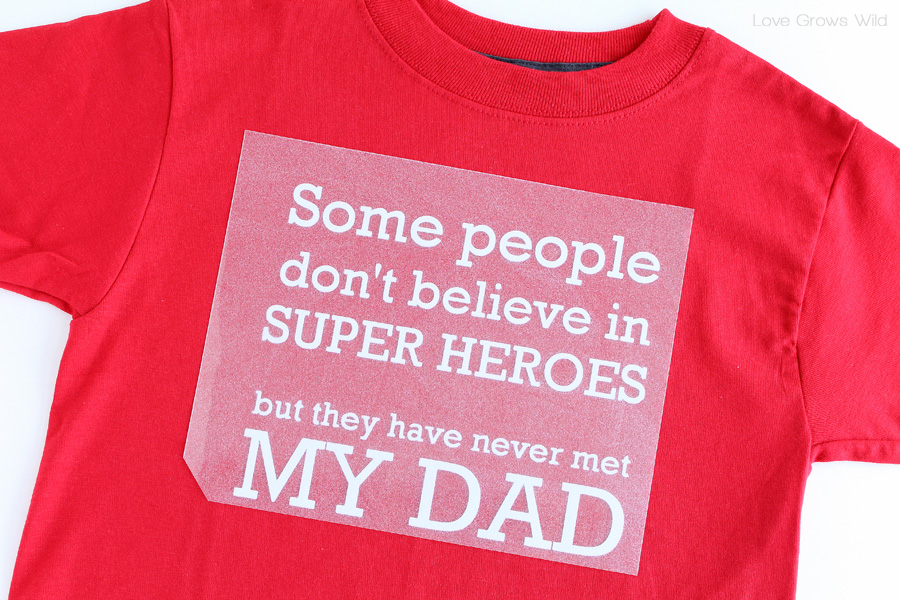Make Your Own Super Hero Dad T Shirt For Kids Perfect Father S Day
