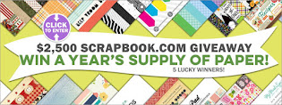 $2500 Scrapbook.com Years supply of Paper giveway