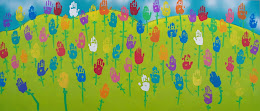 Make your own tulip handprint art