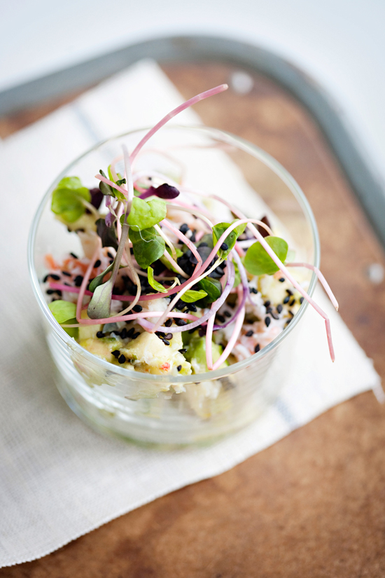 Crab, Apple + Avocado Verrine recipe by Sunday Suppers