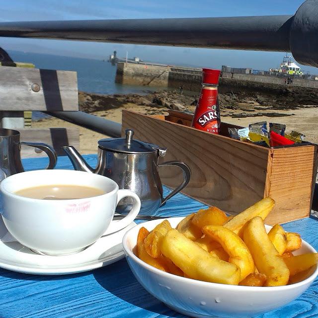 Chips at the Harbourfront Bistro, Holyhead, Anglesey