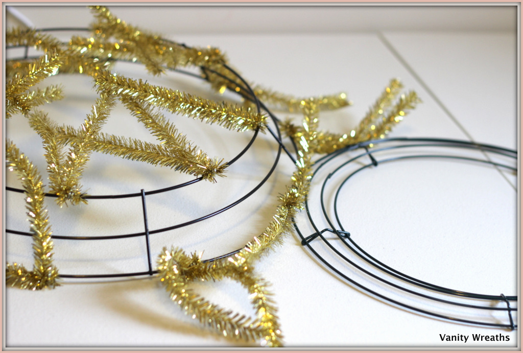 for this tutorial we used a 12 inches box wire wreath and 10 pipe cleaners you can choose a bigger form if you want but dont forget that you will then - Wire Wreath Frame Hobby Lobby