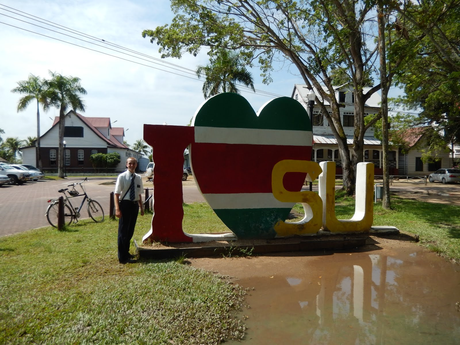 "I ""heart"" Suriname Sign"