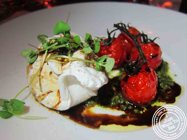 Image of Burrata salad at Courgette next to Dream Hotel Midtown in NYC, New York