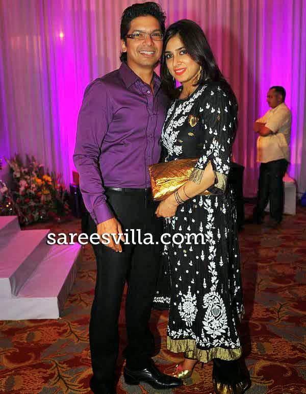 Shaan with wife Radhika