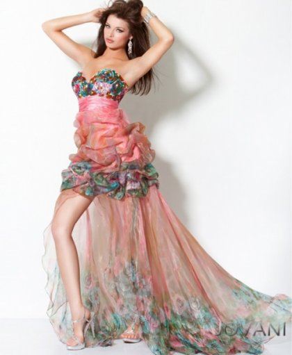 strapless-high-low-jovani high low prom dress