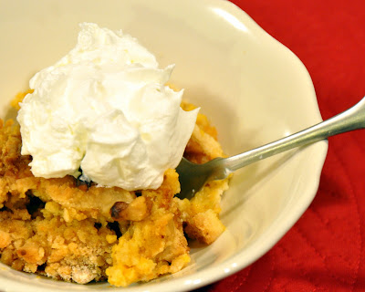 Pumpkin crunch dessert also known as Pumkin Dump Cake