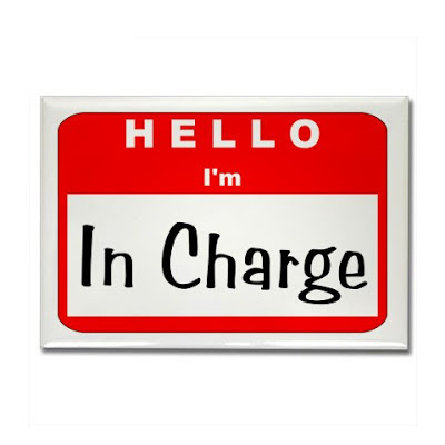 in charge sticker