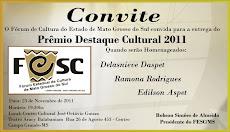 PRÊMIO DESTAQUE CULTURAL DE 2011