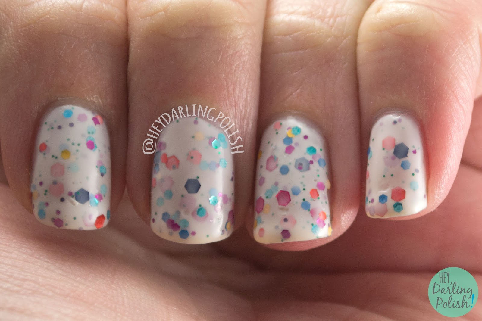 swatch, full bloom ahead, kbshimmer, hey darling polish, nails, nail polish, indie, indie polish, indie nail polish, glitter crelly, glitter,
