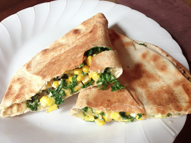parsley goat cheese quesadilla