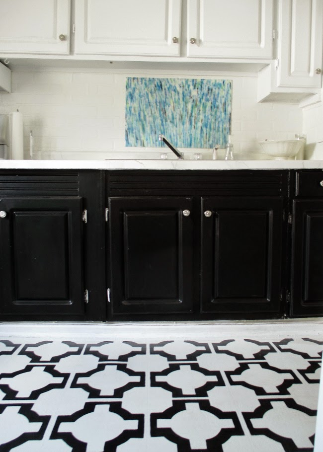 Black And White Kitchen Vinyl Flooring high heels and training wheels: diy floors: vinyl to tile for only $50
