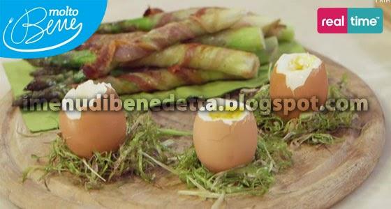 Asparagi Croccanti con Uova alla Coque di Benedetta Parodi