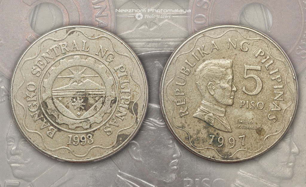 Duit syiling Filipina 5 Piso 1997