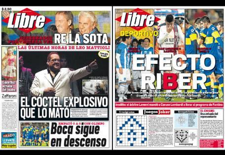 Tapa diario libre leo mattioli report show el mundo for Diario el show del espectaculo