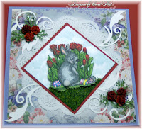 Digital Stamps - Easter Bunny, card by Carol