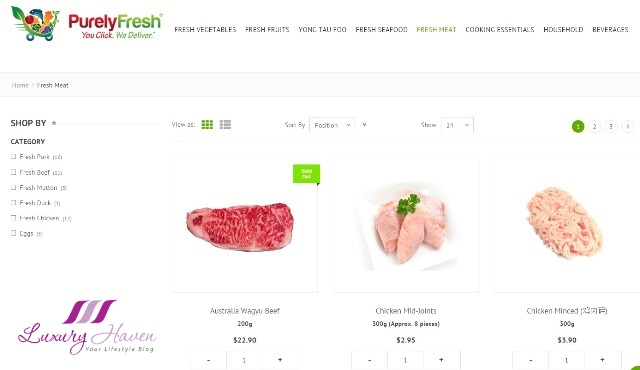 purely fresh online shopping pork chicken review