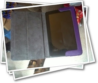 Kindle Fire with purple case
