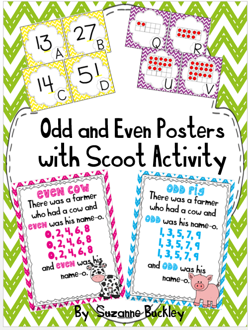 http://www.teacherspayteachers.com/Product/Odd-and-Even-Posters-with-Scoot-Activity-1352158