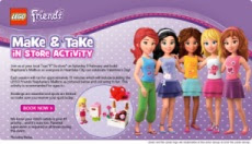 LEGO Friends events at LEGO store, LEGO retailers, and LEGO discovery centers & parks: