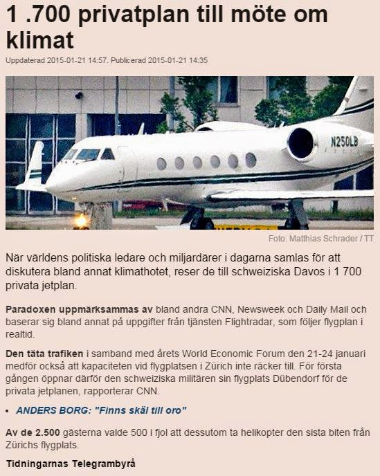 1700 st. Privatplan till Davos. Privatejets