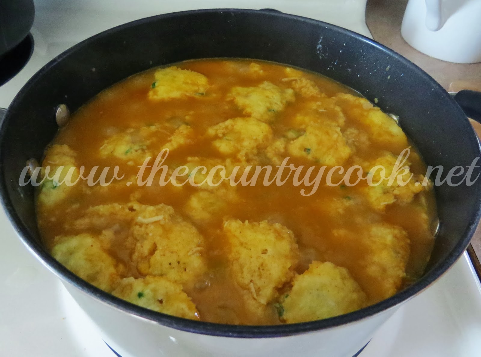 Drunk Chili And Cheddar Cornbread Dumplings Recipe — Dishmaps