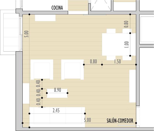 Sal n cuadrado o rectangular cada uno con sus normas de - Distribucion salon comedor rectangular ...