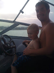 Liam and Jack at the helm