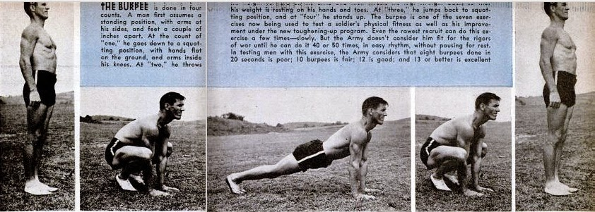 The Burpee Exercise as Depicted in the February 1944 edition of Popular Science